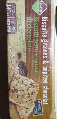 Biscuits graines & pépites chocolats