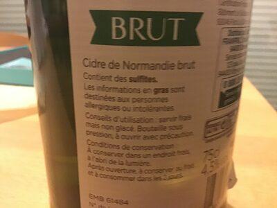 Cidre de Normandie brut