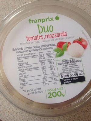 Duo tomates, mozzarella