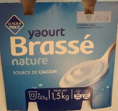 Yaourt Brassé nature (12 pots)
