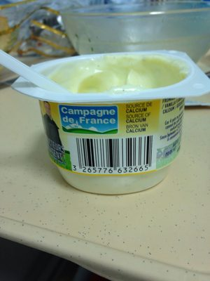 Fromage frais saveur vanille