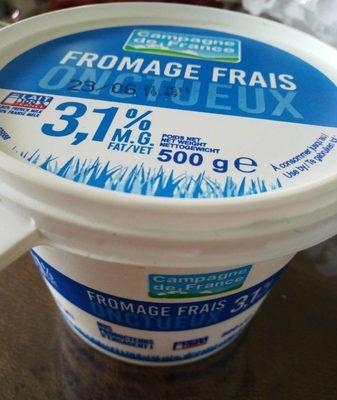 Fromage frais onctueux 3,1% M.G.