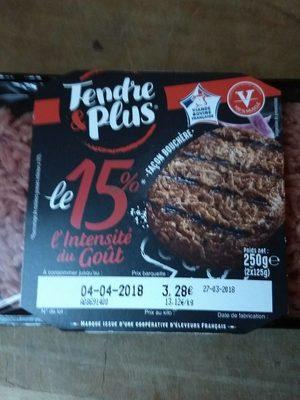 Steaks hachés le 15%