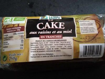 Cake aux raisins et au miel