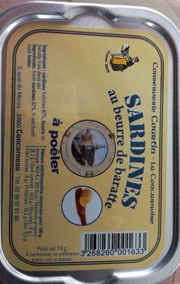 Sardines au beurre de baratte à poêler