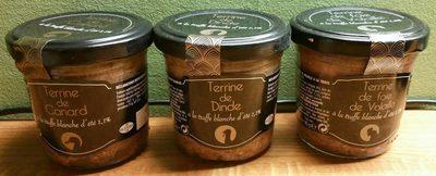 Trio de terrines à la truffe blanche d'été 1,1%
