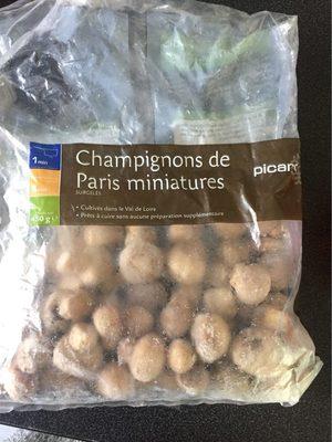 Champignons de Paris Miniatures. Le Sac De 450 Grammes