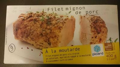 Filet mignon de porc à la moutarde