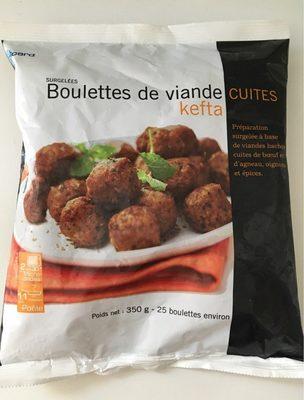 Boulettes de viande cuites kefta