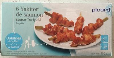 6 Yakitori de saumon