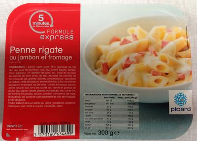 Penne rigate au jambon et fromage, Surgelées