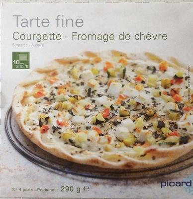 Tarte fine Courgette - Fromage de chèvre