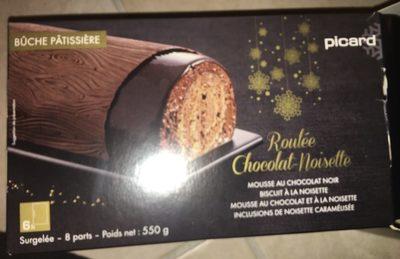 Bûche patissière Roulée Chocolat-Noisette