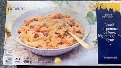 Ecrasé de pomme de terre, legumes grillés, figue