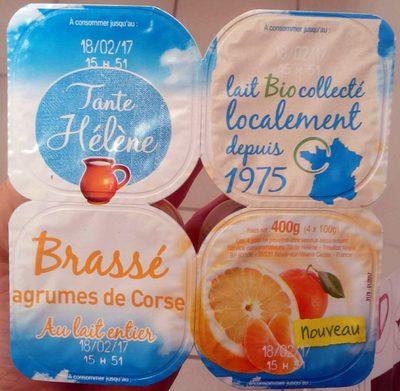 Brassé agrumes de Corse au lait entier