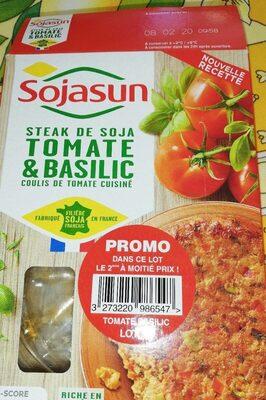 Steak de soja tomate et basilic