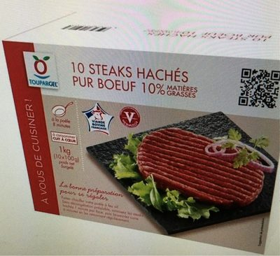 Steaks haches pur boeuf 10% Mg