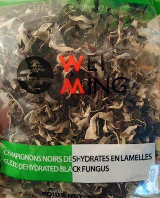 Champignons noirs déshydratés en lamelles