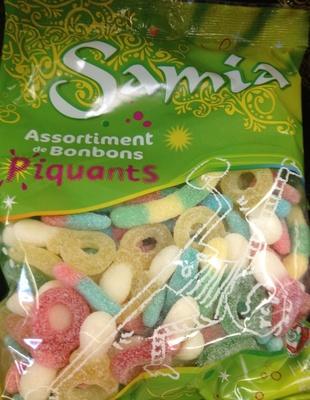 Assortiment de bonbons piquants halal