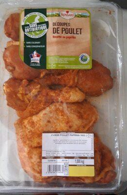 Découpe de poulet au paprika