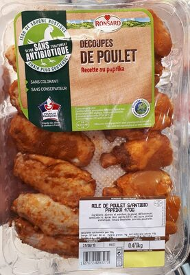 Découpes de poulet au paprika