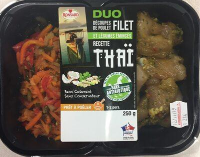 Duo de filet de poulet et légumes marinés recette thaï