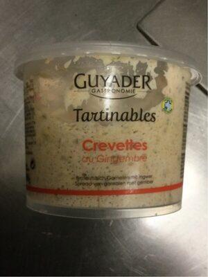 Tartinables crevettes au gingenbre