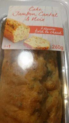 Cake jambon cantal noix