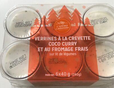 Verrines crevettes coco curry