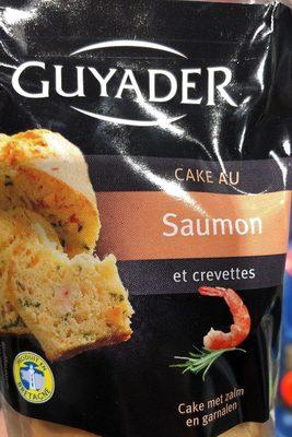 Cake au saumon et crevettes