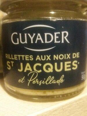 Rillettes aux noix de saint Jacques  et persillade