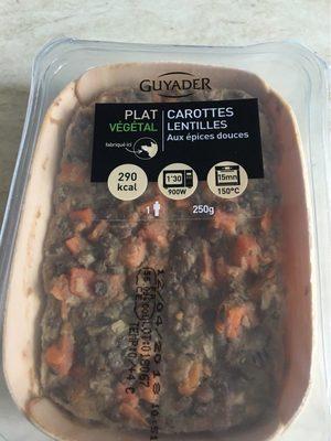 Plat Végétal Carottes Lentilles aux Epices douces