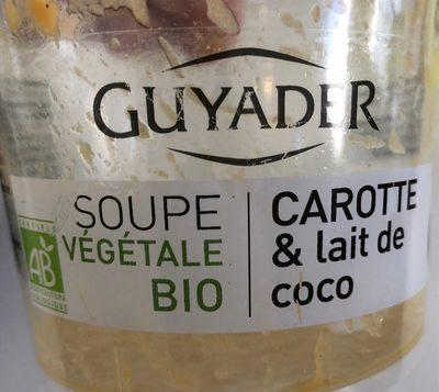Soupe vegetale Bio Carotte&Lait de coco