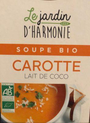 Soupe carotte lait de coco