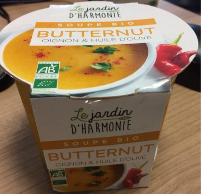 Soupe Bio Butternut oignon et huile d'olive