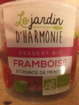 Dessert bio Framboise