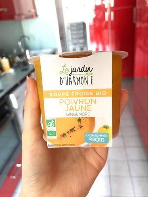 Soupe froide bio - poivron jaune & gingembre