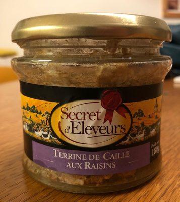 Terrine de caille aux raisins