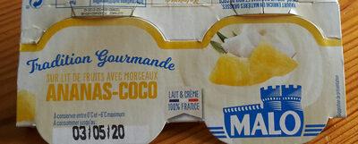 Yaourt ananas coco