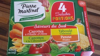 4 Salades Portions Saveurs du Sud