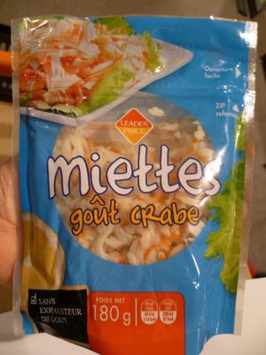Miettes goût Crabe
