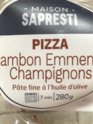 La Pizza Jambon Champignons de Paris