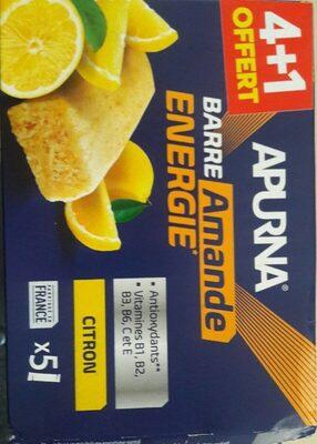 Barre amande énergie citron