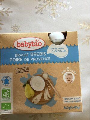Babybio brasse brebris poire de provence