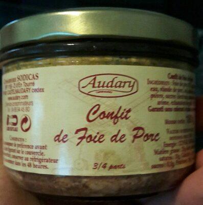 Confit de foie de porc