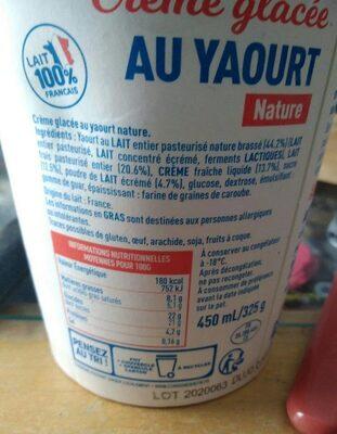 Crème glacée au yaourt Malo
