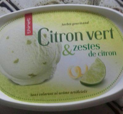 Sorbet citron vert et zestes