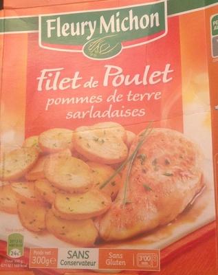 Filet de poulet et pommes de terre à la sarladaise