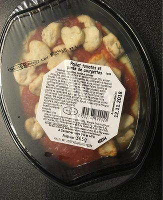 Poulet tomates et purée de courgettes