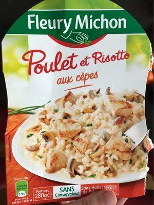 Poulet et risotto aux cepes